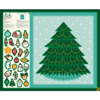 Moda Fabrics - Deck the Halls by Stacy Iest Hsu - Cut and Sew Christmas Tree Panel