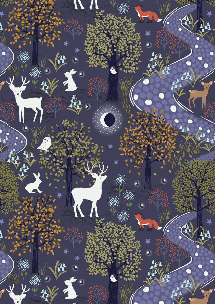 Lewis and Irene -  Nighttime in Bluebell Wood - Glow in the Woods Midnight