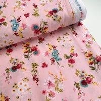 REMNANT 30M X 150CM Poppy Europe Fabrics - Flowery - Pink