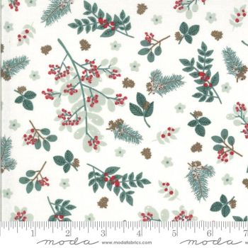 Moda Fabrics Kate and Birdie Paper Co. - Juniper - Snow Folliage