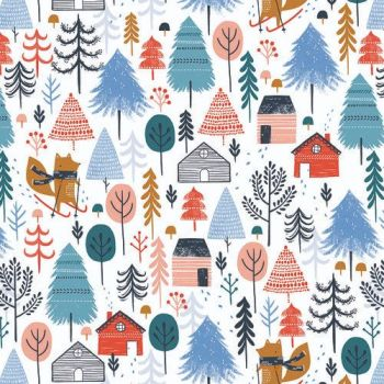 Snow Much Fun by Dashwood Studio -  Alpine Village White