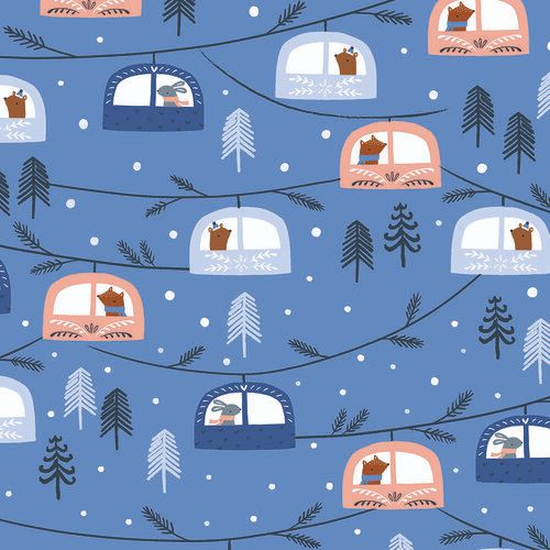 Snow Much Fun by Dashwood Studio -  Cable Cars Blue