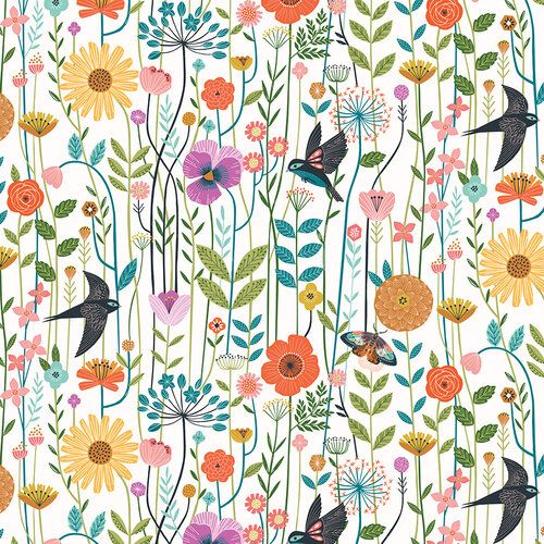 Aviary by Dashwood Studio -  Wild Meadow White