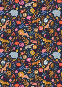 Meadow Safari Needlecord Corduroy Dashwood Studio - Safari