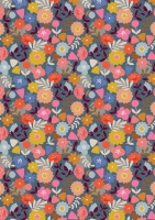 Meadow Safari Needlecord Corduroy Dashwood Studio - Flowers