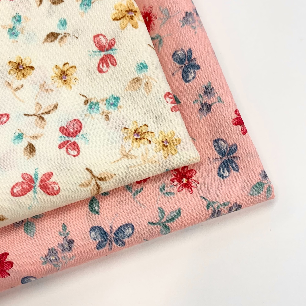 Rose and Hubble - Dancing Butterflies - Felt Backed Fabric
