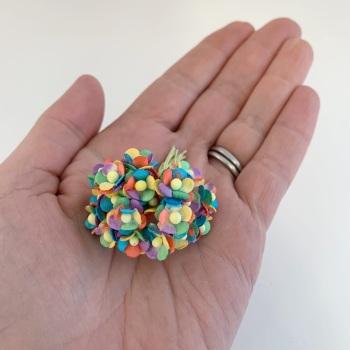 Mulberry Paper Flower Miniature Sweetheart Blossom Bright Rainbow