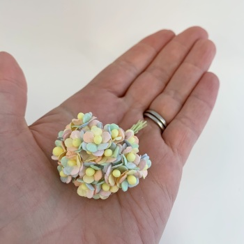 Mulberry Paper Flower Miniature Sweetheart Blossom Pastel Rainbow
