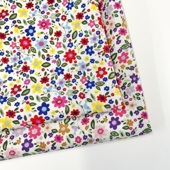 Rose and Hubble - Flowers and Birds - Felt Backed Fabric