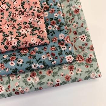 Poppy Europe - Romantic Flowers - Felt Backed Fabric