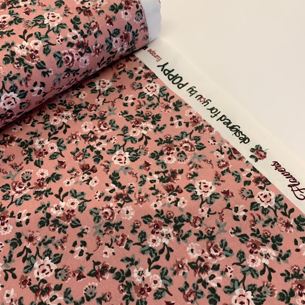 Poppy Europe Fabrics - Romantic Flowers - Pink
