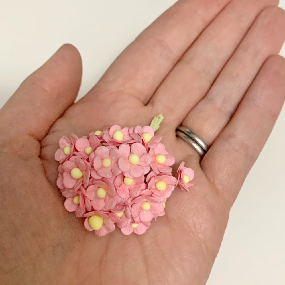 Mulberry Paper Flower Miniature Sweetheart Blossom Baby Pink