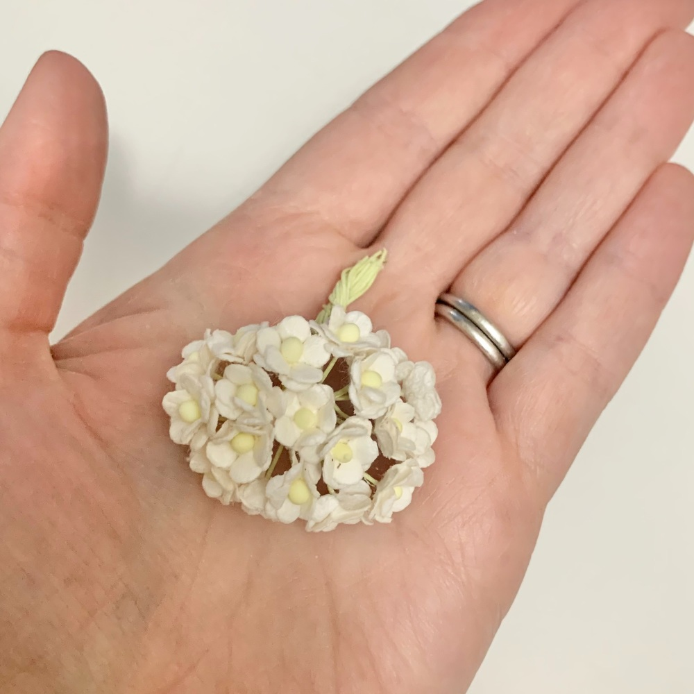 Mulberry Paper Flower Miniature Sweetheart Blossom Ivory