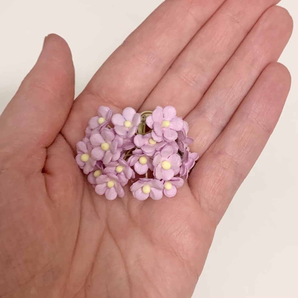 Mulberry Paper Flower Miniature Sweetheart Blossom Lilac