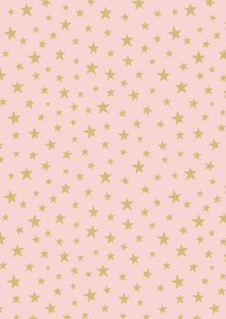 Lewis and Irene -  Marvellous Metallics - Gold Star on Pink