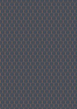 Lewis and Irene -  Marvellous Metallics - Copper Geometric on Navy