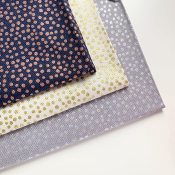 Lewis and Irene - Marvellous Metallics - Spots - Felt Backed Fabric