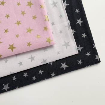 Lewis and Irene - Marvellous Metallics - Stars with metallic - Felt Backed Fabric