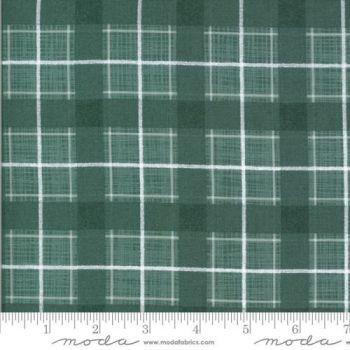 REMNANT 90CM X 110CM Moda Fabrics Kate and Birdie Paper Co. - Juniper - Spruce Plaid