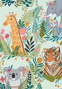 Our Planet - Dashwood Studio - Animal Kingdom on Green