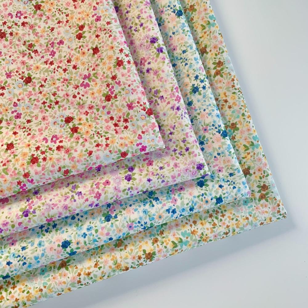 Sevenberry - Petite Garden Watercolour Floral - Felt Backed Fabric