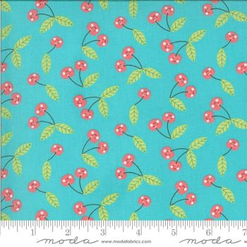 Moda Fabrics - Hello Sunshine - Cherries Aqua