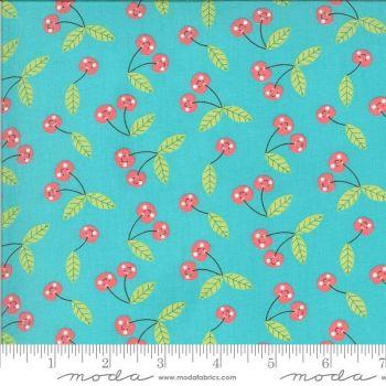 Moda Fabrics - Hello Sunshine - Cherries Aqua