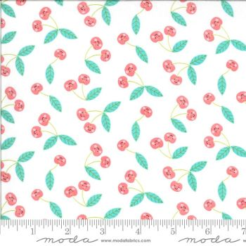 Moda Fabrics - Hello Sunshine - Cherries White