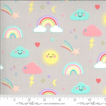 Moda Fabrics - Hello Sunshine - Rainbows Cloudy
