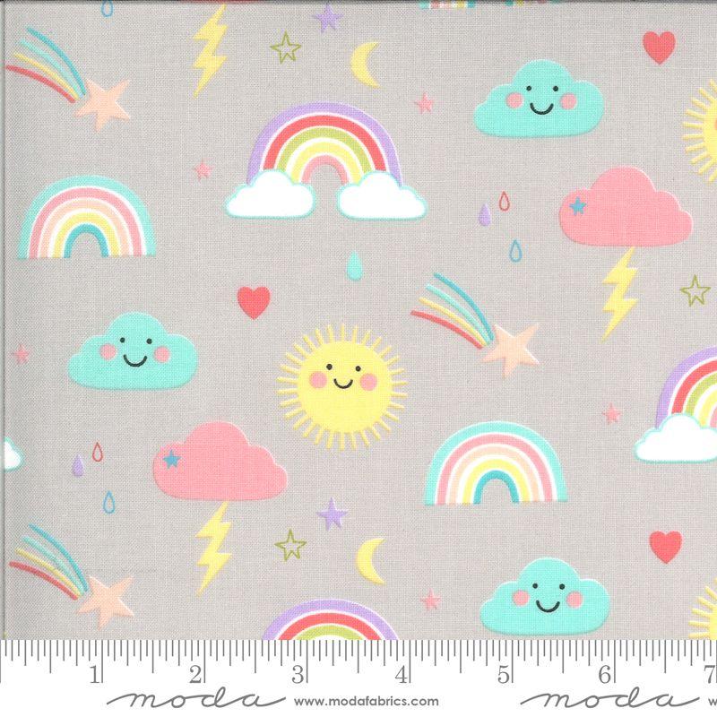 Moda Fabrics - Hello Sunshine - Rainbows Cloudy