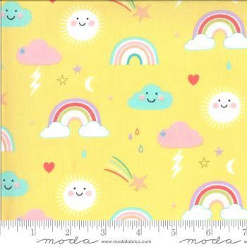 Moda Fabrics - Hello Sunshine - Rainbows Sunshine Yellow