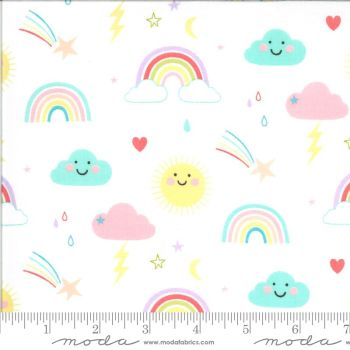 Moda Fabrics - Hello Sunshine - Rainbows White