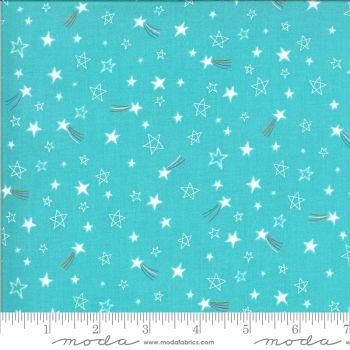 Moda Fabrics - Hello Sunshine - Stars Aqua