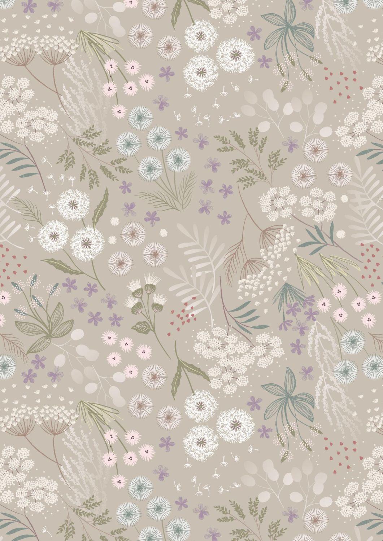 Lewis and Irene -  Fairy Clocks - Cream Linen Fairy Plants