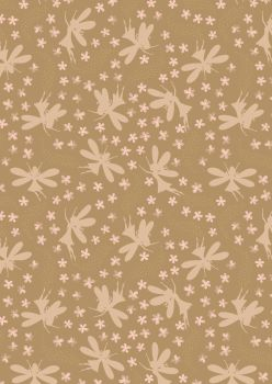 Lewis and Irene -  Fairy Clocks - Deep Gold Floral Fairies with Gold Metallics