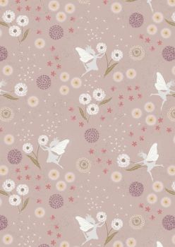 Lewis and Irene -  Fairy Clocks - Fairy Clocks on Warm Linen with Silver Metallics