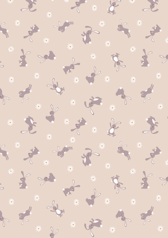 Lewis and Irene - Bunny Hop - Bunny on Dark Cream