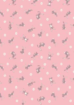 Lewis and Irene - Bunny Hop - Bunny on Pink