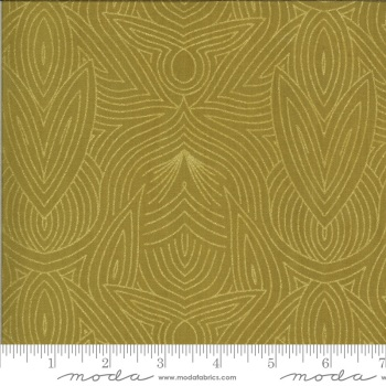 Moda Fabrics - Dwell in Possibility - Metallic Art Nouveau Umber