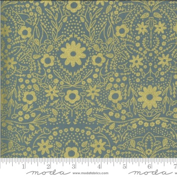 Moda Fabrics - Dwell in Possibility - Metallic Floral Sky
