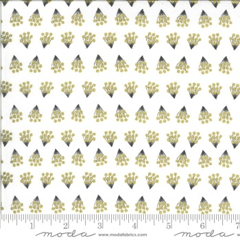 Moda Fabrics - Dwell in Possibility - Metallic Tiny Bouquets Ivory
