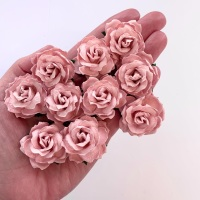 Mulberry Paper Flowers - Wild Roses 30mm  - Rose Pink