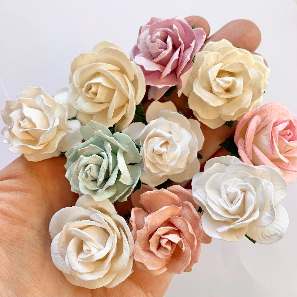 Mulberry Paper Flower - Large Roses