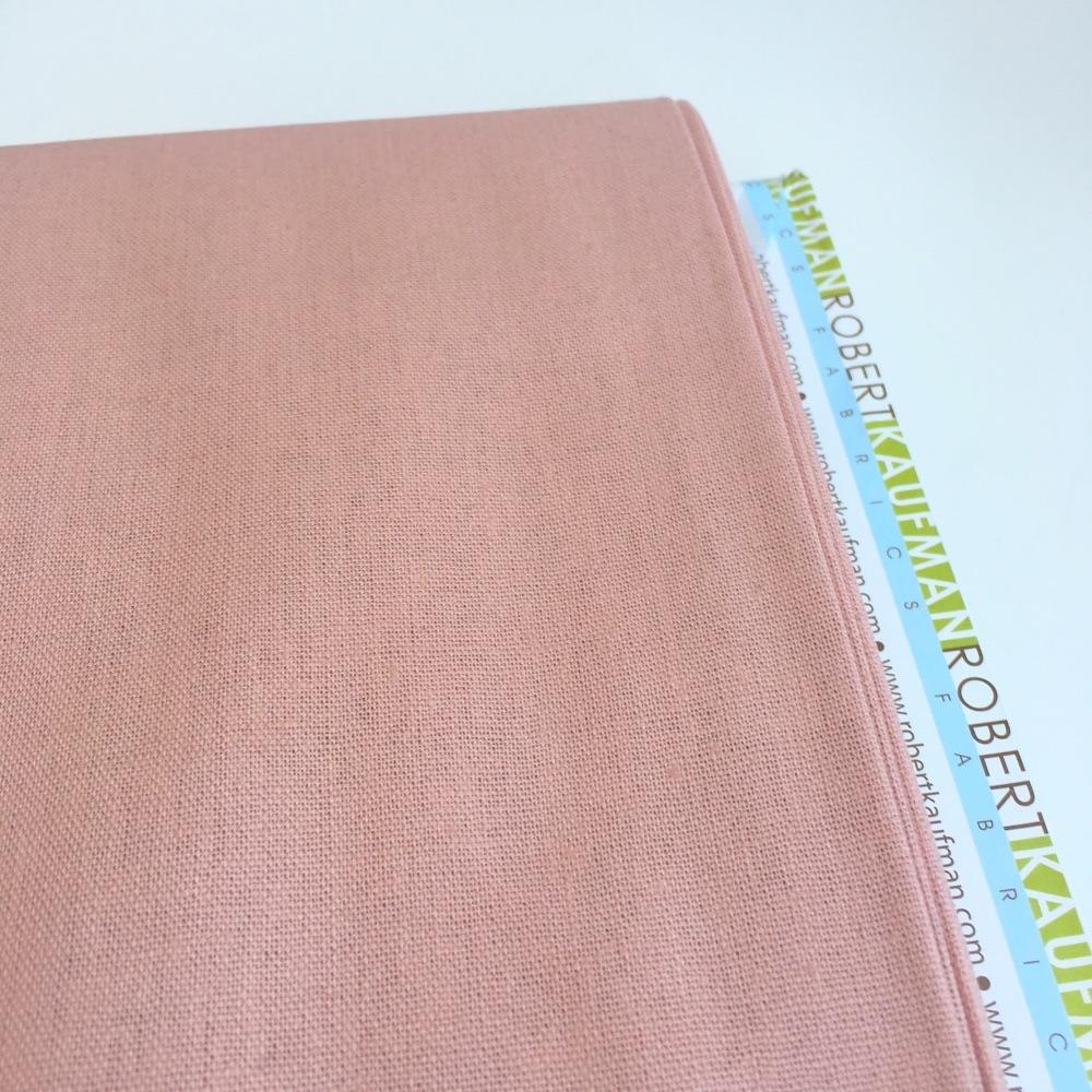 Robert Kaufman Essex Linen - Rose - Felt Backed Fabric