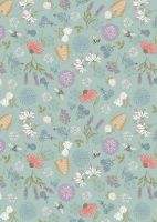 Lewis and Irene -  Queen Bee - Bee Floral on Light Duck Egg