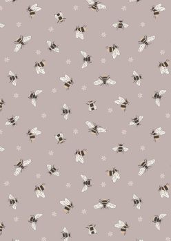 Lewis and Irene -  Queen Bee - Bees on Warm Beige