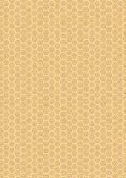Lewis and Irene -  Queen Bee - Honeycomb on Honey Yellow