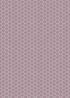 Lewis and Irene -  Queen Bee - Honeycomb on Mid Lilac