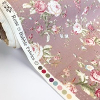 Rose and Hubble Fabrics - 100% Cotton Poplin Vintage Floral Pink