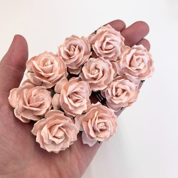 Mulberry Paper Flowers - Wild Roses 30mm  - Pink Mist
